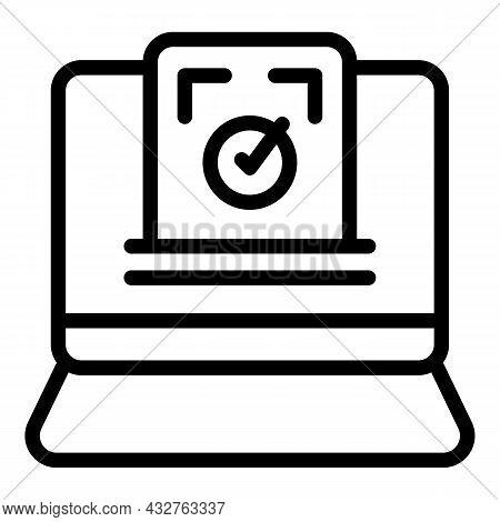 Online Election Icon Outline Vector. Vote Box. Democracy Ballot