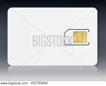 Sim Card Vector Mobile Phone Icon Chip. Simcard Isolated 3d Design Gsm. Sim Card. Mobile Telecommuni