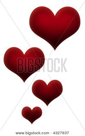 Column of Valentines Love Hearts