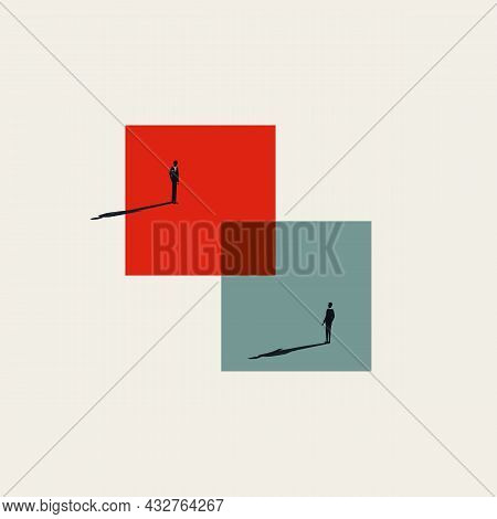 Business Merger And Acquisition Abstract Vector Concept. Symbol Of Negotiation, Opportunity. Minimal