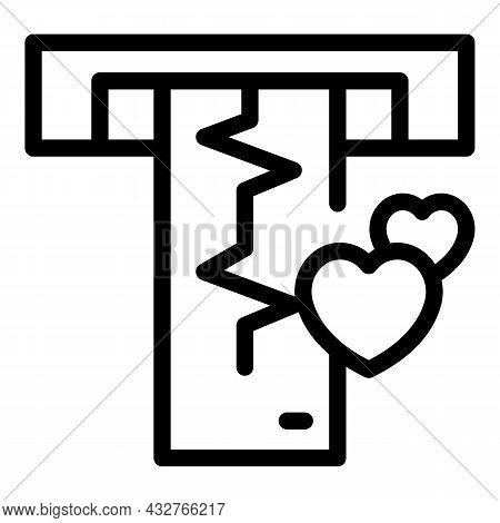Cardiogram Icon Outline Vector. Heartbeat Ecg. Heart Beat