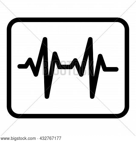 Heart Rate Diagram Icon Outline Vector. Monitor Pulse. Beat Ekg