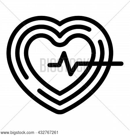 Healthy Pulse Icon Outline Vector. Human Heart Beat. Monitor Ekg