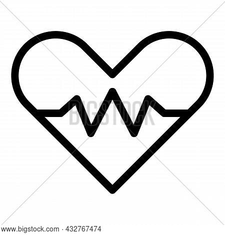 Heart Rate Icon Outline Vector. Pulse Monitor. Beat Ekg