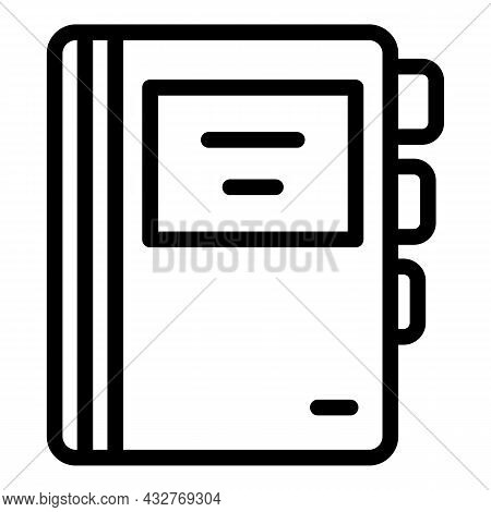 Cv Folder Icon Outline Vector. Paper Document. Business File