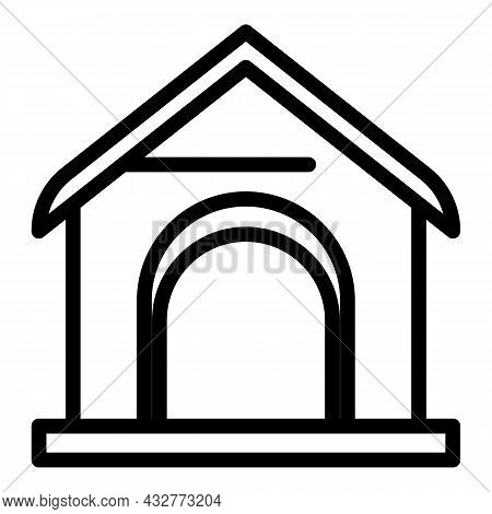 Animal Kennel Icon Outline Vector. Dog Pet. Puppy Canine