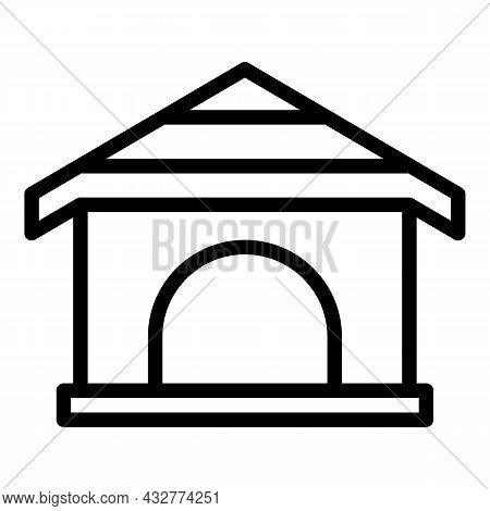 Doggy House Icon Outline Vector. Dog Puppy. Canine Pet