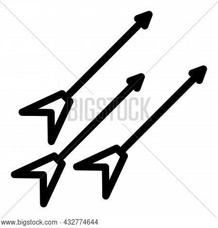 Competition Arrow Icon Outline Vector. Target Dart. Bullseye Dart