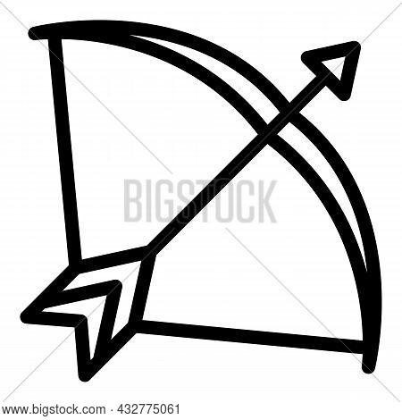 Competition Bow Icon Outline Vector. Archery Arrow. Archer Goal