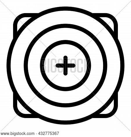 Competition Target Icon Outline Vector. Arrow Goal. Dart Focus