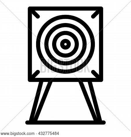 Target Board Icon Outline Vector. Arrow Aim. Dart Goal