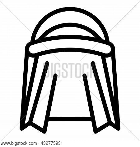 Arabic Turban Icon Outline Vector. Indian Pagdi. Pagdi Hat