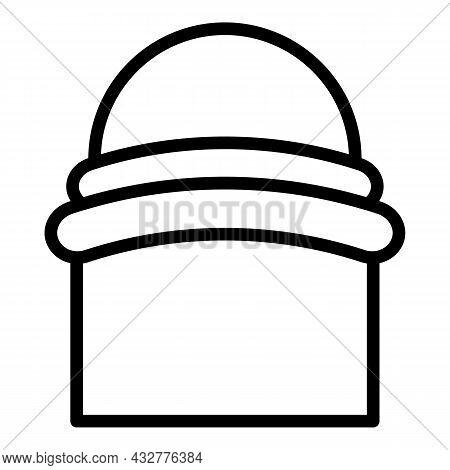 Turban Headwear Icon Outline Vector. Indian Hat. Oriental Folk