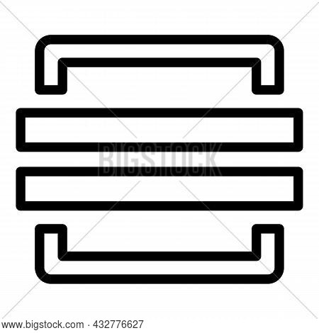 Code Scanning Icon Outline Vector. Phone Scan. Smartphone Qr