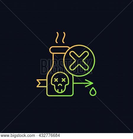 Illegal Poison Hunting Gradient Vector Icon For Dark Theme. Prohibit Poisonous And Toxic Substances