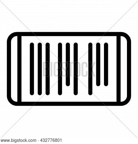 Scanning App Icon Outline Vector. Phone Scan. Qr Code