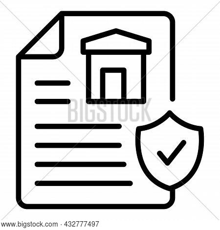 Privacy Document Icon Outline Vector. Confidential Data. Secure File