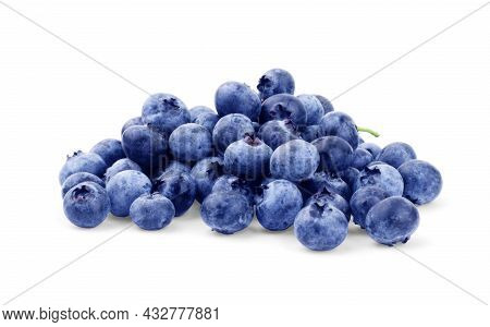 Blueberries On A White Background Ingredient, Diet, Fruit, Tasty, Delicious, Sweet, Juicy,