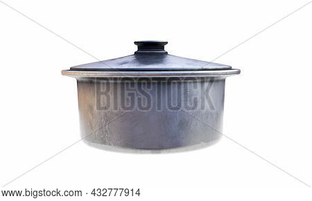 Metal Bowl Isolated On White Background 3d Render