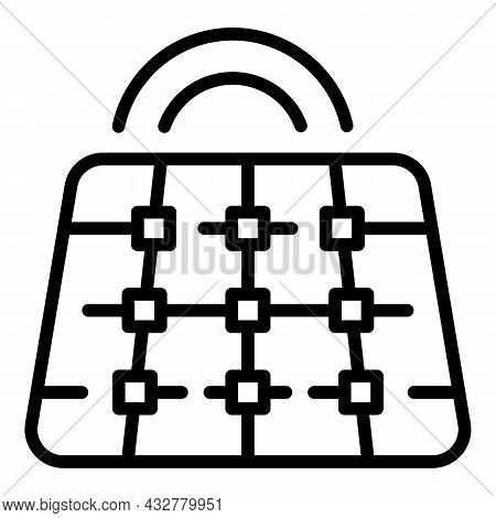 Solar Panel Installation Icon Outline Vector. Home Energy. Battery Power