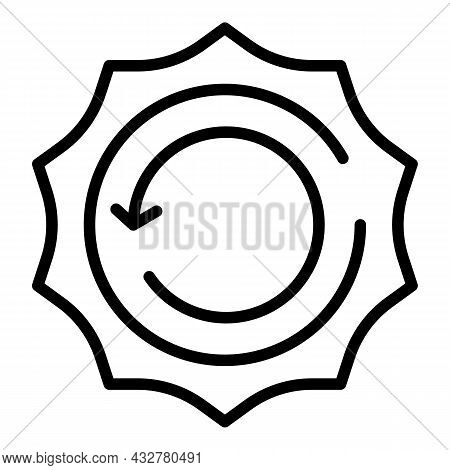 Reusable Solar Energy Icon Outline Vector. Ecology Water. Nature Resource