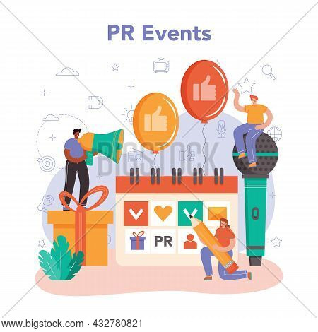 Public Relations Manager. Pr Event. Specialist Developing Commercial
