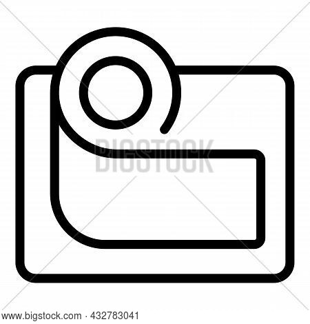 Concentration Way Icon Outline Vector. Career Balance. Success Path