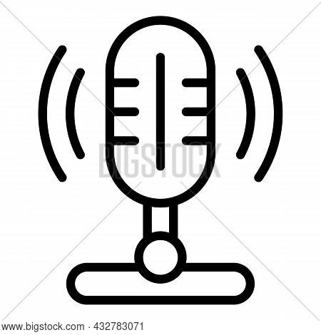 Concentration Speaking Icon Outline Vector. Brain Speech. Active Listening