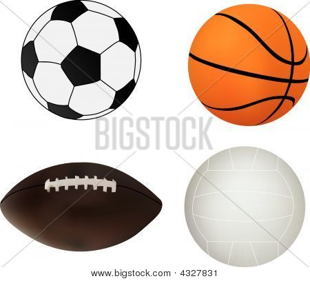 Vector Collection Of Sport Balls