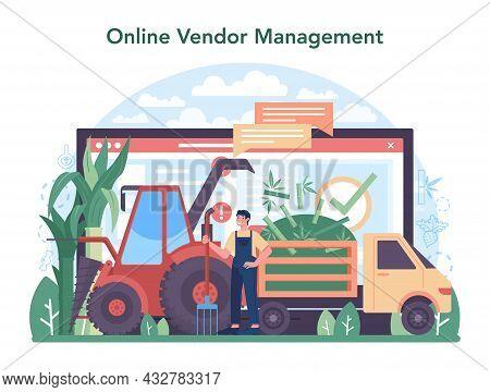 Sugar Production Industry Online Service Or Platform. Saccharose