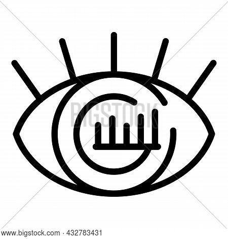 Concentration Vision Icon Outline Vector. Business Mind. Creative Mission