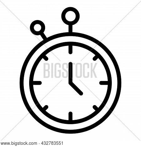Time Concentration Icon Outline Vector. Business Schedule. Strategy Focus