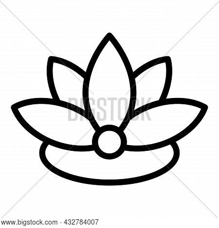 Lotus Concentration Icon Outline Vector. Relax Meditate. Health Mind