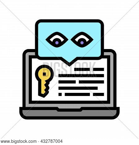 Key Security System Color Icon Vector. Key Security System Sign. Isolated Symbol Illustration