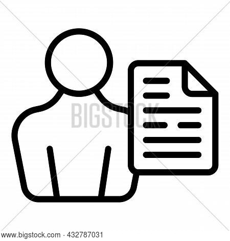 Client Profile Icon Outline Vector. Customer User. Member Account