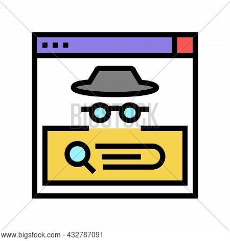 Confidential Security System Color Icon Vector. Confidential Security System Sign. Isolated Symbol I