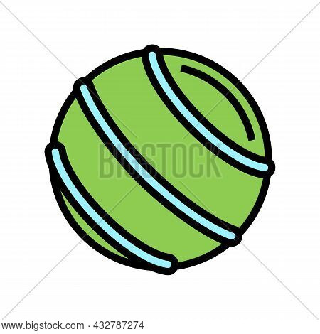 Ball Fitness Accessory Color Icon Vector. Ball Fitness Accessory Sign. Isolated Symbol Illustration