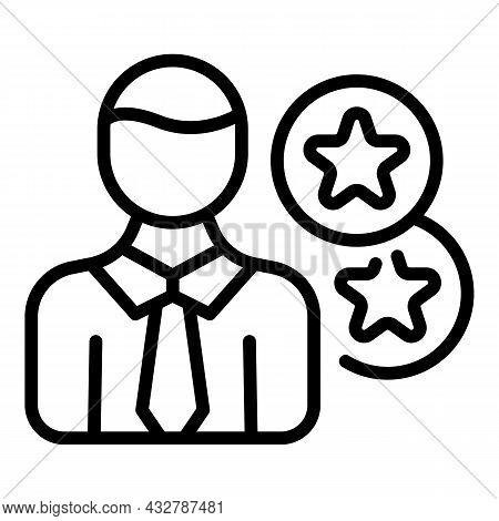 Customer Review Icon Outline Vector. Online Feedback. Star Opinion