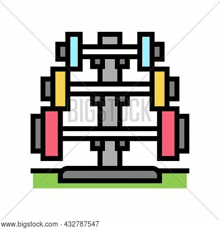 Barbell Rack Color Icon Vector. Barbell Rack Sign. Isolated Symbol Illustration