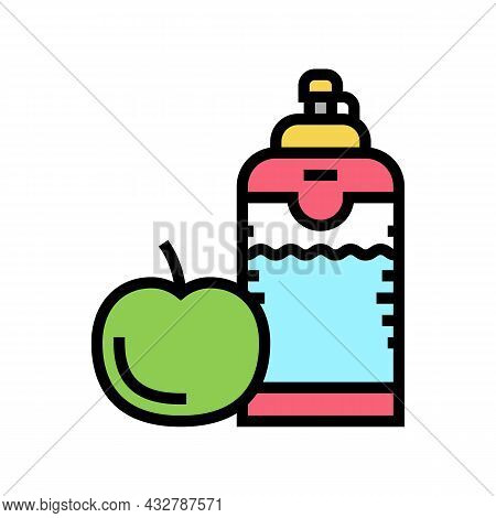Healthy Food And Drink For Athlete Color Icon Vector. Healthy Food And Drink For Athlete Sign. Isola
