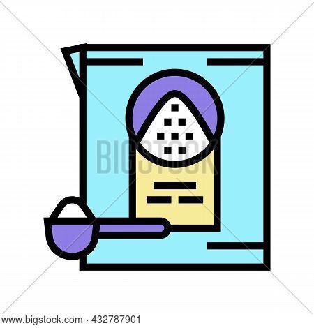 Detergent Powder Color Icon Vector. Detergent Powder Sign. Isolated Symbol Illustration