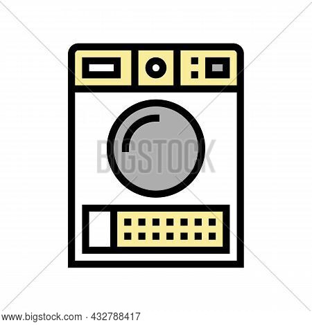 Dry Electronic Machine Color Icon Vector. Dry Electronic Machine Sign. Isolated Symbol Illustration