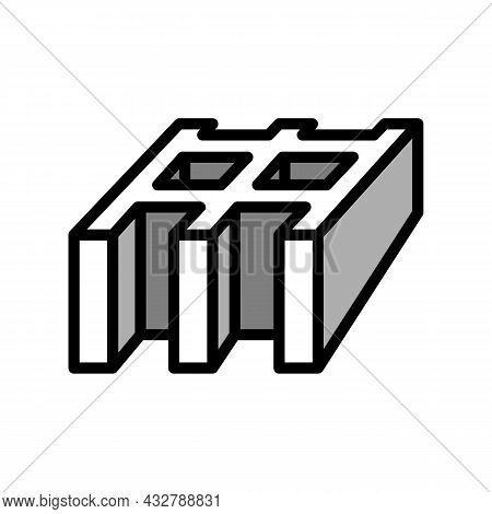 Safety Grating Metal Color Icon Vector. Safety Grating Metal Sign. Isolated Symbol Illustration