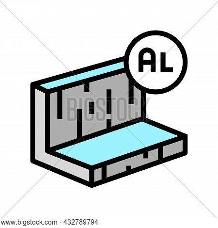 Aluminum Metal Profile Color Icon Vector. Aluminum Metal Profile Sign. Isolated Symbol Illustration