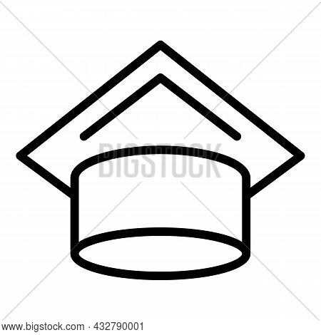Educational Cap Icon Outline Vector. Academic Hat. Academy Graduate