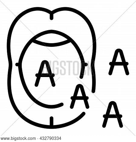 Talking Mouth Icon Outline Vector. Human Speech. Language Diction