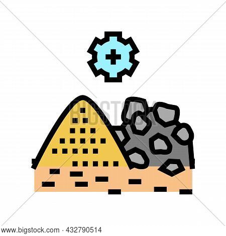 Mining Processing Color Icon Vector. Mining Processing Sign. Isolated Symbol Illustration