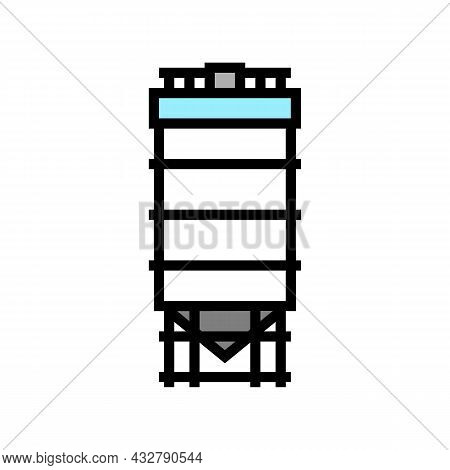 Tank For Coal Storage Color Icon Vector. Tank For Coal Storage Sign. Isolated Symbol Illustration