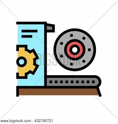 Equipment And Parts Fabrication Color Icon Vector. Equipment And Parts Fabrication Sign. Isolated Sy