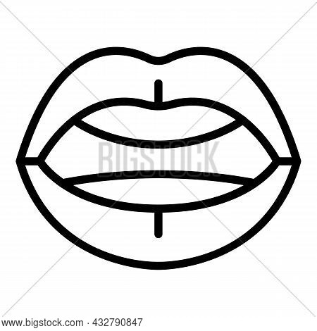 Mouth Sync Icon Outline Vector. Alphabet Expression. Lip Animation